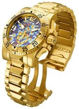 InvictA 15975  Excursion Yellow Gold Swiss made Diver 200 M Blue dial NEW 15976