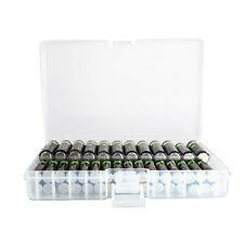 Clear AA/AAA Plastic Battery Storage Case/Organizer/Holder Holds 46 AA batteries