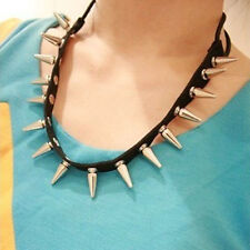 Hot Multifunctional Cool Punk Stud Rivet Spike Collar Necklace Bracelet Headband