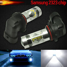 2X 9006 HB4 Samsung 2323 100W LED 6000K Super White Fog Driving light Bulbs DRL