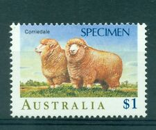 PECORE - SHEEPS AUSTRALIA 1989 $1.00 SPECIMEN - SAGGIO