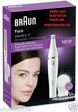 BRAUN FACE 810 WOMANS LADIES FACIAL HAIR EPILATOR TWEEZER UPPER LIP CHIN + BRUSH