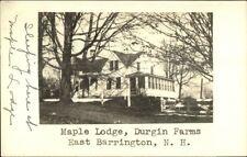 East Barrington NH Maple Lodge Durgin Farms Real Photo Postcard