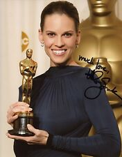 HILARY SWANK AUTOGRAPH SIGNED 8x10 PHOTO OSCAR WINNER COA