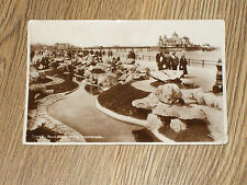 THE LILY POOL MORECAMBE PROMENADE POSTCARD  REAL PHOTO POSTED 1931 VGC
