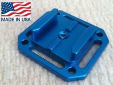 Aluminum mount for GoPro HERO strap bolt  flat curved Tripod Adapter Blue