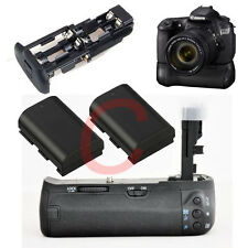 Battery Grip For Canon BGE9 BG-E9 60D +2x LP-E6 1800mAh