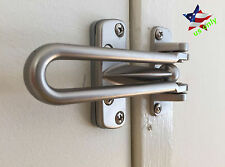 Home Guard Safety Lock Satin Nickel Swing Bar Entry Door Chain Protection
