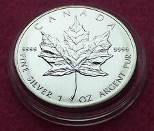 2005  CANADA  MAPLE LEAF $5 FIVE DOLLAR  SILVER  BRILLIANT UNCIRCULATED1oz  COIN
