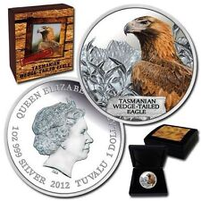 "2012 Tuvalu 1oz Silver Proof Coin ""Tasmanian Wedge Tailed Eagle"""