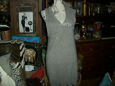 NANETTE LEPORE OONAGH BY Picturesque Heather Gray Cashmere Dress Size M