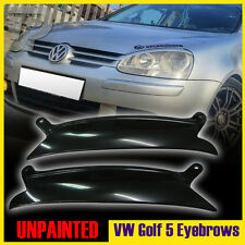 PAINTED Volkswagen VW GOLF MK5 03-08 HEADLIGHT EYEBROWS EYELIDS COVER ▼