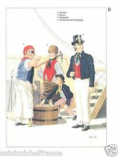 Carpenter Cook Royal Navy Cabin boy Master Crew Napoleon War CARD UNIFORM ARMY