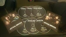 STAR WARS THE COMPLETE SAGA 1,2,3,4,5,6 I II III IV V VI on DVD for DVDS ONLY