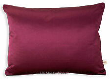 Osborne and Little Kediri Silk Designer Satin Plum Cushion Pillow Cover