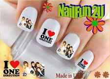 "RTG Set#583 CHARACTER ""1D 3 I Love One Direction"" WaterSlide Decals Nail Transfr"