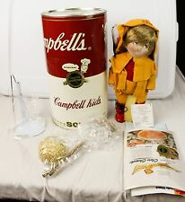 Vintage Campbell's Soup Kids Clam Digger CK-22 Porcelain Doll In Can COA 1994