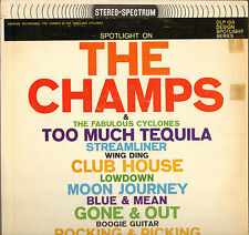 "THE CHAMPS / THE CYCLONES ""TOO MUCH TEQUILA"" INSTRUMENTAL ROCK LP 1964"