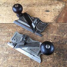 Vintage STANLEY #98 & #99 Side Rebate PLANES Antique Old Handplane Hand Tool 156