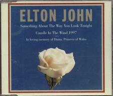 Elton John - Something About The Way You Look Tonight/Candle In The Wind Cd Vg