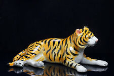 "Ceramic tiger(5.5 ""Long) Figurine Statue Decorative Collectibles,terrarium"