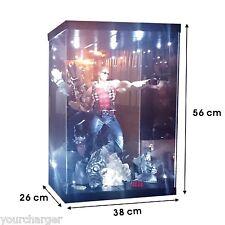 "Acrylic Display Case Light Box for 18"" 1/4 Scale Batman Dark Knight Joker Figure"
