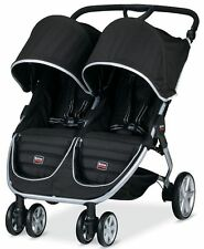 Britax B-AGILE Twin Baby Lightweight Double Stroller Black NEW 2017 AUTH DEALER