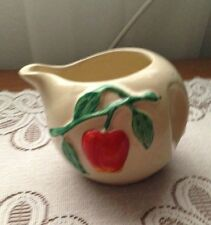 VINTAGE PIPPIN  RED APPLE POTTERY CREAMER