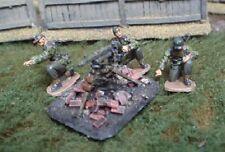 TQD GS28D 20mm Diecast WWII German Waffen SS Helmets & Goggles & MG42 on Tripod