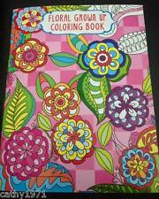 NEW Floral Adult Grown Up Colouring Book #4 - Colour Your Stress Away