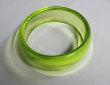 Translucent Lime Green Vintage Lucite Bangle Bracelet