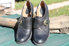 BOC Born Concepts Clogs- Black Leather w/ Buckle - Sz 11 - Like New