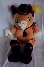 Shrek 2 Dreamworks Puss In Boots RING RATTLE Squeak Toy LOVEY Baby Plush