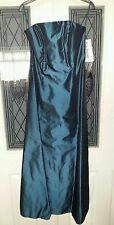 Kaleidoscope Beautiful Strapless Teal Dress Size 10 New with Tags.