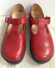 FOOTPRINTS by BIRKENSTOCK Red Leather Shoes Flats Mary Janes Women's Size 7/37