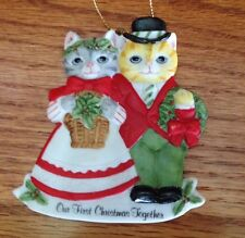 Kitty Cucumber Christmas Ornament Our First Christmas Schmid 1988