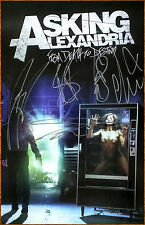 ASKING ALEXANDRIA From Death To Destiny Ltd Ed Hand Signed By All 5 RARE Poster!