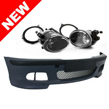 99-05 BMW E46 3-SERIES 4DR M-TECH II STYLE FRONT BUMPER w/ CLEAR FOG LIGHTS