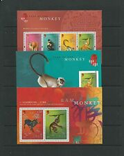 Hong Kong 2004 Year of the Monkey x3 MS, SGMS1212a-c mnh