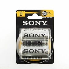 Confezione 2 Pile Batterie Sony New Ultra D Sum1 R20 1.5V Torce hsb