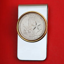 US 2004 Texas State Quarter BU Uncirculated Coin Two Toned Money Clip New