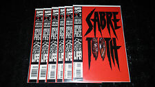 Sabretooth Lot of 6 #1 1st Issue Beautiful Lot Wolverine Die Cut Cover