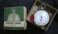 VINTAGE KALTRON  1/10 ANTIMAGNETIC SWISS POCKET WATCH TIMER NEW IN BOX