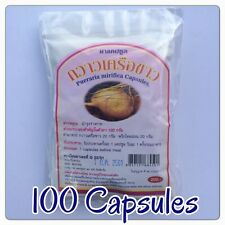 100 Pills Pueraria Mirifica Herbal Natural 100% Breast Bust Enlargement Firming