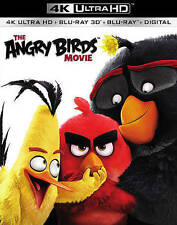 The Angry Birds Movie (DVD, 3D, 4K Ultra HD Blu-ray Includes Digital Copy) NEW