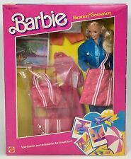 BARBIE VACATION SENSATION SPORTSWEAR AND ACCESSORIES FOR TRAVEL FUN NRFB