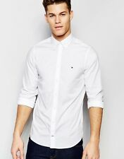 Tommy Hilfiger Poplin Shirt With Stretch In Slim Fit in White S-Chest 36-38 in
