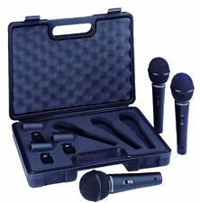 Behringer XM1800S Dynamic Vocal Microphone 3-Pack w/ on-off Switch & Foamed Case