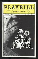 Scarlet Pimpernel NYC Oct 1998 Signed Douglas Sills Rex Smith & Rachel York VF