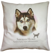 Siberian Husky Breed of Dog Cotton Cushion Cover with Story - Perfect Gift